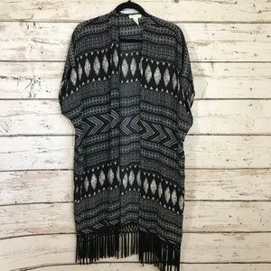 Forever 21 Long Tribal Kimono Top